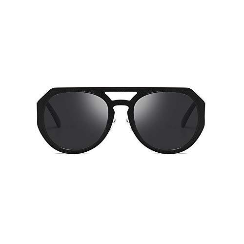 Sonnenbrille Metall Linien Rund Rasiertes Gesicht Licht Sonnenschirm UV-Schutz Retro-Sonnenbrille,A
