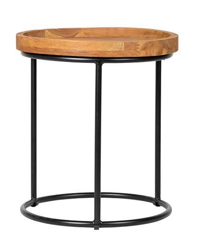 Savannah Beistelltisch (Inspired by David Francis EAW640-ENT Savannah End Table, Natural/Black)