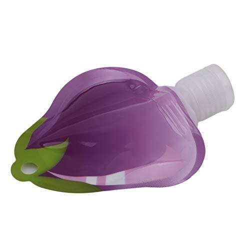L_shop Emulsion Creme Abfüllung Tragbare Reiseflaschen Container Aufbewahrungstasche Kosmetische Lagerung Flasche Air Travel Größe Flasche tropfende Flasche, Pet + PE + PA, Aubergine - Lagerung Auberginen