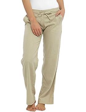 INSIGNIA donne Casual Pantaloni di lino COOL ELASTICO SCHIENA pantaloni con tasche