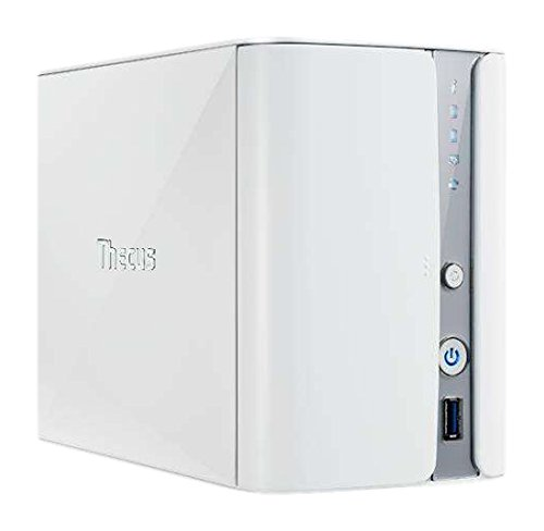 Thecus Nas Uff&Casa Cassa di Archiviazione, 2Bay, 1.6Ghz, 2GB, Bianco
