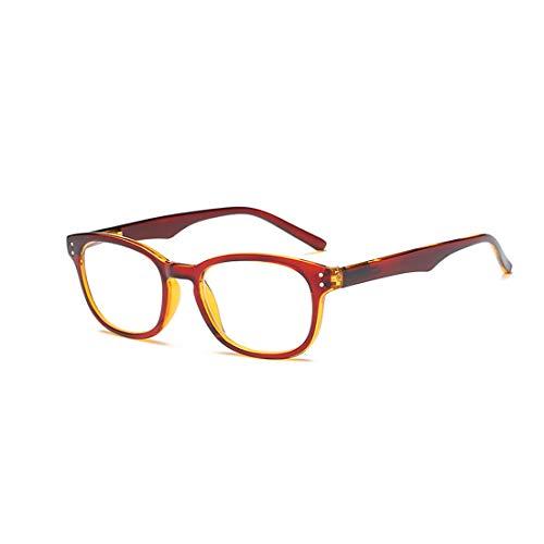 Yefree Unisex lesen Brille Große Schachtel Brille Retro Voll Rahmen Brille +1.0 bis 4.0