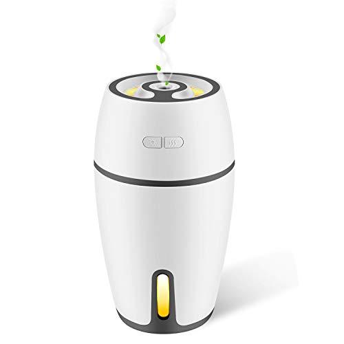 Aroma Diffuser 300ml DIZA100 Luftbefeuchter Oil Düfte Humidifier Holzmaserung LED mit 7 Farben für Yoga Salon Spa Wohn-, Schlaf-, Bade- oder Kinderzimmer Hotel MEHRWEG