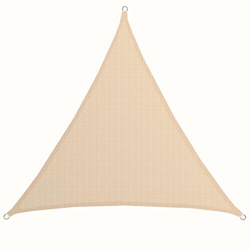 AMANKA XXL-Dreieck Sonnensegel 5x5x5m HDPE Atmungsaktiv UV-Sonnen-Schutz Terrasse Balkon Garten...