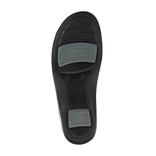 tessamino Damen Sandale aus Sola-Stretch, klassisch, Weite H, für Einlagen Weinrot