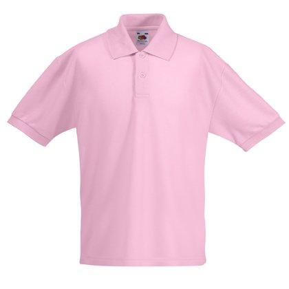 Fruit of the Loom Kinder Polo Shirt, Kurzarm 12-13 Years,Light Pink