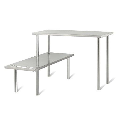 Arbeitsplatte Regal (bremermann® Küchen-Eckregal, Küchenregal, Gewürzregal, Edelstahl)