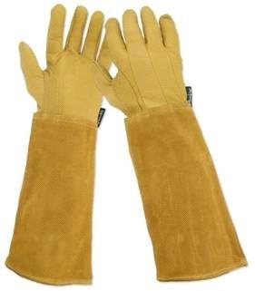 Rostaing Arbeitshandschuhe / Rosenhandschuhe Leder mit Stulpe, Größe 7