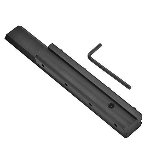 Alomejor Scope Mount Basis Schwalbenschwanz Picatinny Weaver Schienenverlängerung 11mm bis 20mm Schwalbenschwanz für Gewehr (Gewehr-schiene)