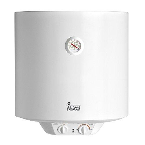 Teka - Termo Electrico Ewh50, 50L, Blanco, Tanque Esmaltado, Resistencia Ceramica, Termostato...