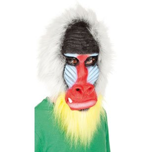 Vollkopf Latex Maske Pavian (Pavian Maske)