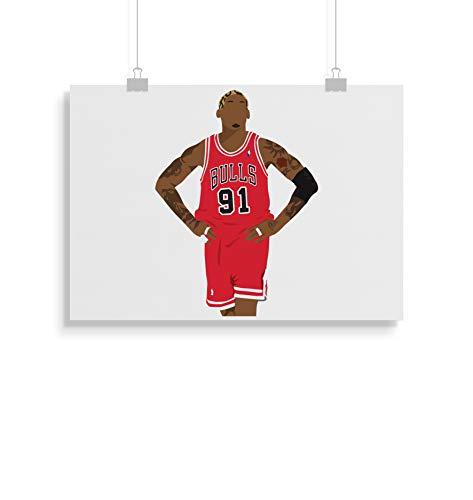 Dennis Rodman inspirierte Poster - Zitat - Alternative Sport/Basketball Prints in verschiedenen Größen (Rahmen nicht im Lieferumfang enthalten)