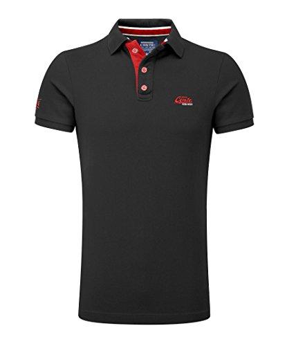 M.Conte Herren Poloshirt Basic Men's Kurzarm Polohemd T-Shirt Polo-Shirt Pique- Gr. XXL, Schwarz-Black -