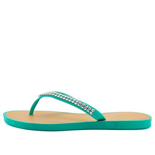 Footwear Turquoise donna London aperto Retro awSxYn1d