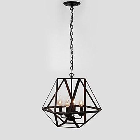 Fx@ 40W Rústico/Campestre Estilo de la vela Pintura Metal Lámparas ColgantesComedor / Habitación de estudio/Oficina / Habitación de Juego / ,