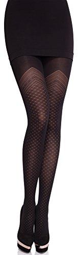Merry Style Damen blickdichte Strumpfhose MS 323 50 DEN (Schwarz, M)