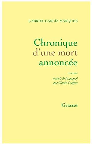 Chronique d'une mort annoncée par Gabriel García Márquez