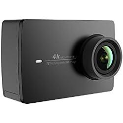 "YI 4K Cámara Deportiva Original 4K Cámara Acuatica Full HD 1080P 12MP con Sensor SONY Videocámara Deportiva - 2.19""LCD,WI-FI,1400mAH,4K/30fps,155º,Pantalla Táctil - Negro"