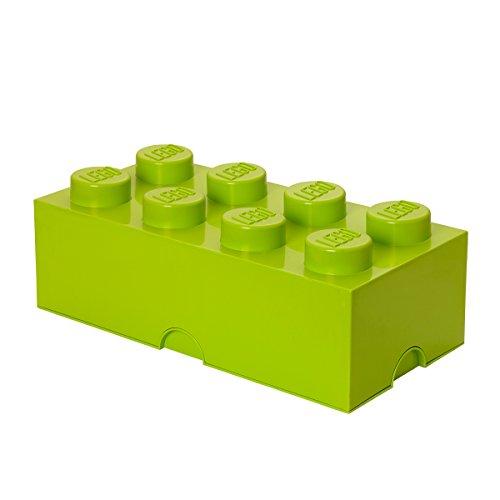 lego-scatola-porta-giochi-impilabile-a-forma-di-mattoncino-lego-da-8-colore-verde-chiaro