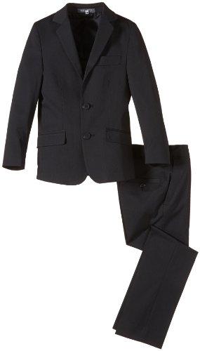 Stretch-zwei-knopf-anzug (G.O.L. Jungen Anzug Blazeranzug, Slimfit, Gr. 158, Schwarz (black 2))