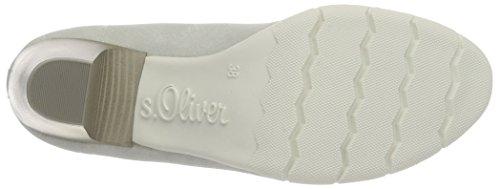 s.Oliver 22405, Scarpe con Tacco Donna Grigio (QUARTZ 202)