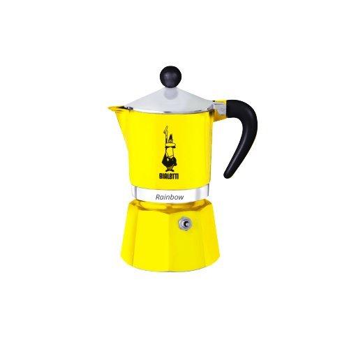 """Bialetti""""Rainbow caffettiera per 6tazze, Alluminio, Yellow, 30 x 20 x 15 cm"""