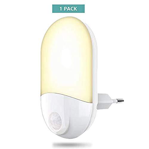 Nachtlicht Steckdose mit Bewegungsmelder, onehous 35 Lumen LED Nachtlicht Kinderlampe Wärmelampe Baby Stilllicht, 3m Auto ON/OFF Energieeffizient Bewegungssensor für Kinderzimmer, Schlafzimmer, Küche