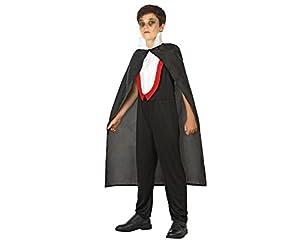 Atosa-45045 Atosa-45045-Disfraz Vampiro para niño infantil-talla 3 a 4 Años negro, color (45045)