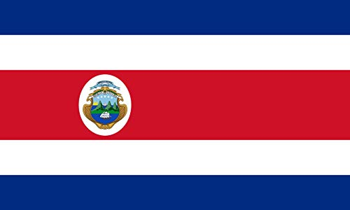 magFlags Flagge: Large State Flag of Costa Rica 1906-1964 | State Flag of Costa Rica Between 1906 and 1964. In 1964 a Law was Passed by Government to Reduce The Numbers of The Stars from 5 to 7, to r