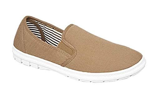GladRags Mens Boys Slip On Canvas Shoes Summer Pumps Casual Espadrilles Lightweight Plimsolls Size UK 6 7 8 9 10 11 12
