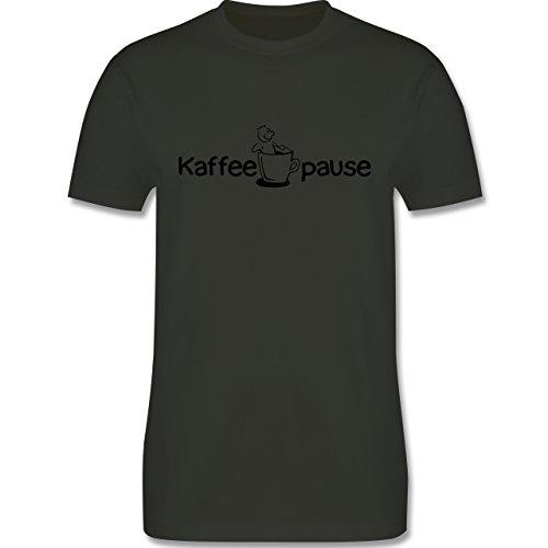 Küche - Kaffeepause - Herren Premium T-Shirt Army Grün