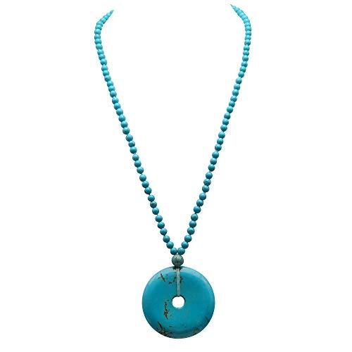 0dcf7b749238 JYX - Collar de Piedras Preciosas Turquesa de 6 a 10 mm