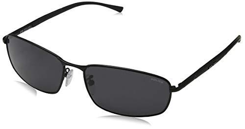Police Herren S8650 Rechteckig Sonnenbrille, MATT ROSE GOLD & BLACK FRAME / SMOKE LENS