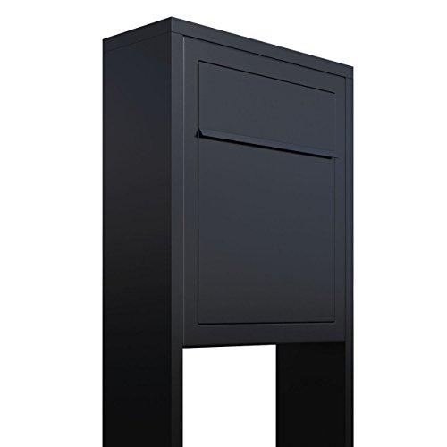 Standbriefkasten, Design Briefkasten Base Stand in Schwarz