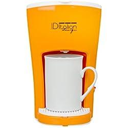Italian Design - Machine à café automatique 1 service + 1 tasse incluse, 450 W, orange