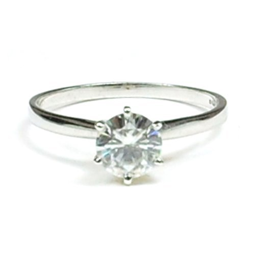 18ct Gold 1ct Solitaire Moissanite Ring