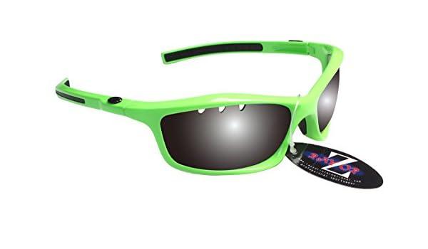 RayZor Professional Lunettes de soleil protection UV400pour Sport Course à Pied Vert, ultra léger avec un fumé Effet miroir anti-reflet Objectif