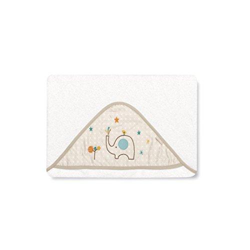 pirulos 00712410–maxicapa, Design Elefant, 100x 100cm, weiß und Leinen