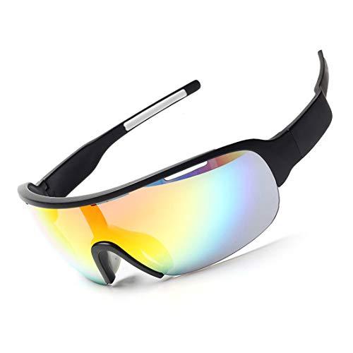 Polarisierte Sonnenbrille mit UV-Schutz Outdoor Sports Sonnenbrillen Wechselobjektive für Männer Frauen Clip-on UV-Schutz Sonnenbrillen Superleichtes Rahmen-Fischen, das Golf fährt ( Farbe : Schwarz )