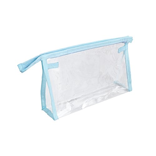 OUNONA Sac de Maquillage Transparent Imperméable de PVC (Bleu)