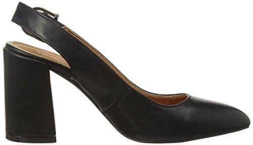 Boohoo Megan Pointed Block Heel Slingback, Chaussures &Agrave Talons avec Bride &Agrave L&RsquoArri&EgraveRe Femme Noir