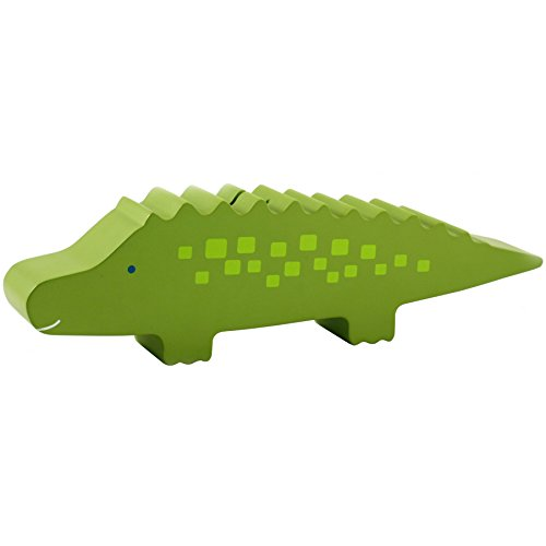 Pearhead 40005 - fun friends Holz Spardose, allie alligator Krokodil Alligator