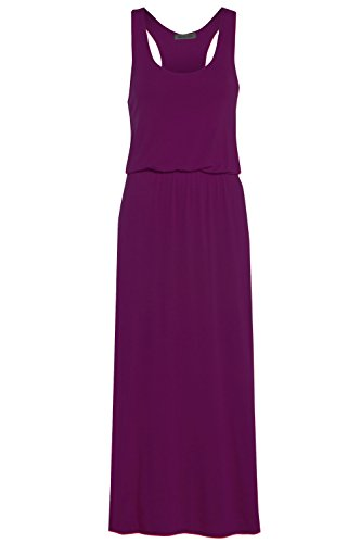 Glossy Look Damen Kleid, Einfarbig schwarz schwarz Violett