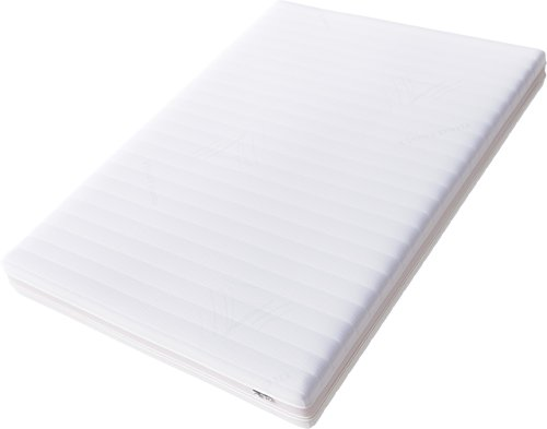 Hilding Sweden Essentials Memoryschaum Matratze in Weiß / Mittelfeste Matratze aus thermoelastischem Visko-Komfortschaum für alle Schlaftype (H2-H3) / 100 x 200 cm