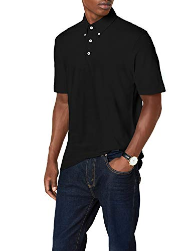 James & Nicholson Herren Poloshirt Poloshirt Men's Plain schwarz (black/black-white) XXX-Large