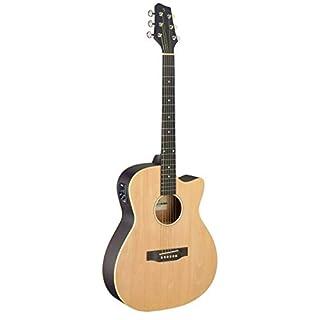 Stagg Cutaway Akustik- und Elektroakustikgitarre, naturfarben
