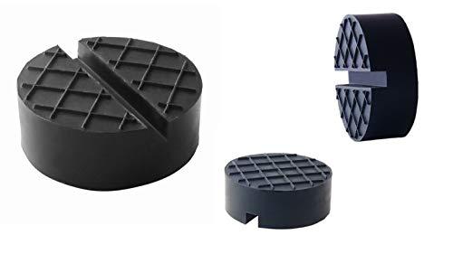 Coussin en caoutchouc de la taille Ø65x25mm pour cric de voiture - Bloc de roue universel en caoutchouc pour le changement des pneus, SUV - Protection de la voiture