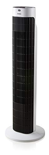 (Domo do8126Household Tower Fan 45W Black, Stainless Steel Household Fan–Household Fans (Black, Stainless Steel, 45W, 770mm, 3.8kg, 190mm, 175mm))
