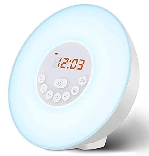 HMMDD Despertador Despertador Luz 7 Colores Junto