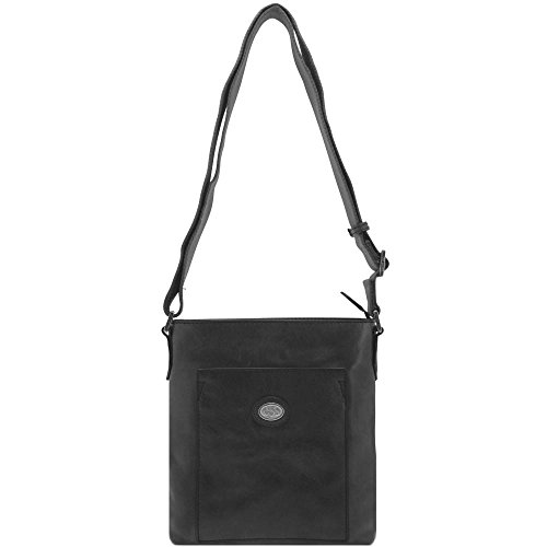 The Bridge Bureau Sac bandoulière cuir 22 cm nero